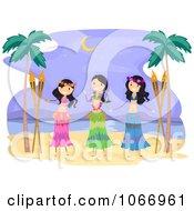 Poster, Art Print Of Hawaiian Hula Dancers