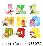 Clipart Visual Alphabet J Through R Royalty Free Vector Illustration