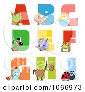 Clipart Visual Alphabet A Through I Royalty Free Vector Illustration