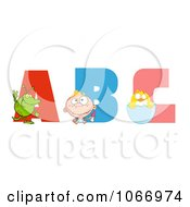 Clipart Visual Alphabet ABC Royalty Free Vector Illustration