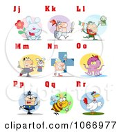 Clipart Alphabet Letters And Pictures J Through R Royalty Free Vector Illustration by Hit Toon