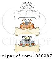Clipart Bulldog Bone Signs Royalty Free Vector Illustration