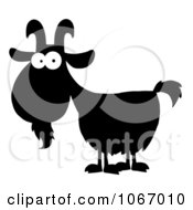 Clipart Silhouetted Goat With White Eyes Royalty Free Vector Illustration