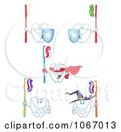 Clipart Tooth Characters 1 Royalty Free Vector Illustration