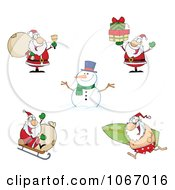 Clipart Santas 2 Royalty Free Vector Illustration by Hit Toon