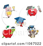 Clipart Back To School Characters 2 Royalty Free Vector Illustration