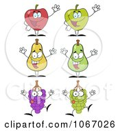 Clipart Fruit Characters Royalty Free Vector Illustration