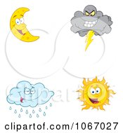 Clipart Weather Characters 3 Royalty Free Vector Illustration