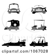 Clipart Black And White Vehicles Royalty Free Vector Illustration