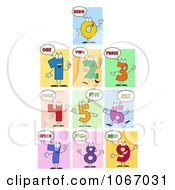 Clipart Number Characters Royalty Free Vector Illustration