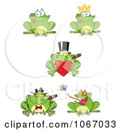 Clipart Green Frogs Royalty Free Vector Illustration