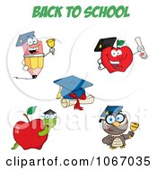 Clipart Back To School Characters 1 Royalty Free Vector Illustration by Hit Toon
