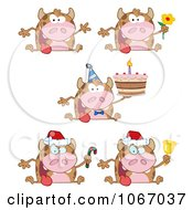 Clipart Holiday Cows Royalty Free Vector Illustration