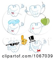 Clipart Tooth Characters 2 Royalty Free Vector Illustration