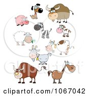 Clipart Barnyard Animals Royalty Free Vector Illustration by Hit Toon