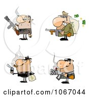 Clipart Gangsters Royalty Free Vector Illustration by Hit Toon