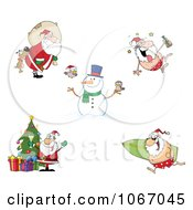 Clipart Santas 3 Royalty Free Vector Illustration by Hit Toon