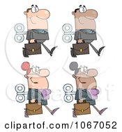 Clipart Wind Up Business People Royalty Free Vector Illustration