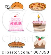 Clipart Foods Royalty Free Vector Illustration by Hit Toon
