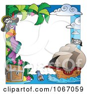 Clipart Parrot Pirate Frame 2 Royalty Free Vector Illustration
