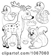 Outlined Forest Animals 1