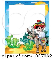 Clipart Mexican Man On A Donkey Frame Royalty Free Vector Illustration
