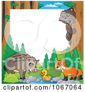 Clipart Forest Animal Frame 2 Royalty Free Vector Illustration by visekart