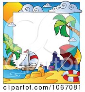 Clipart Summer Time Beach Frame Royalty Free Vector Illustration by visekart
