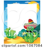 Clipart Mexican Cactus Frame Royalty Free Vector Illustration by visekart