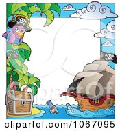 Clipart Parrot Pirate Frame 1 Royalty Free Vector Illustration