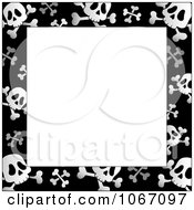 Clipart Black And White Skull And Crossbone Frame Royalty Free Vector Illustration by visekart