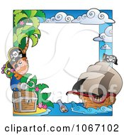 Clipart Pirate Frame Royalty Free Vector Illustration