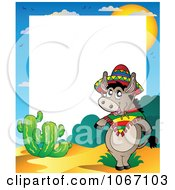 Clipart Mexican Donkey Frame Royalty Free Vector Illustration
