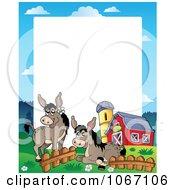 Clipart Barnyard Donkeys Frame Royalty Free Vector Illustration