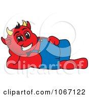 Devil Mascot Reclined