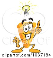 Clipart Cheese Mascot With An Idea Royalty Free Vector Illustration by Toons4Biz