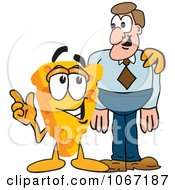 Clipart Cheese Mascot With A Man Royalty Free Vector Illustration by Toons4Biz