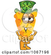 Clipart Cheese Mascot Wearing A Leprechaun Hat Royalty Free Vector Illustration by Toons4Biz