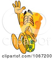Clipart Cheese Mascot Jumping Into A Pool Royalty Free Vector Illustration by Toons4Biz