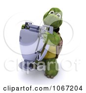 Clipart 3d Tortoise Holding A Trophy Royalty Free CGI Illustration