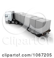 Clipart 3d Big Rig With A White Cover On The Cargo Royalty Free CGI Illustration