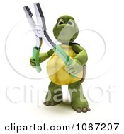 Clipart 3d Tortoise Holding Pliers Royalty Free CGI Illustration by KJ Pargeter