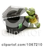 Clipart 3d Tortoise Looking In A Tool Box Royalty Free CGI Illustration