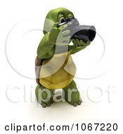 Clipart 3d Tortoise Photographer Royalty Free CGI Illustration by KJ Pargeter