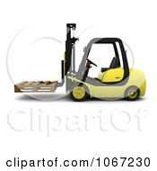 Clipart 3d Pallet On A Forklift Royalty Free CGI Illustration by KJ Pargeter