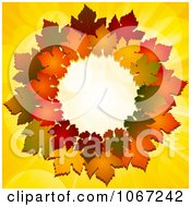 Clipart Thanksgiving Autumn Leaf Wreath Royalty Free Vector Illustration by elaineitalia