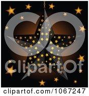 Clipart 3d Black Star Halloween Lantern Royalty Free Vector Illustration