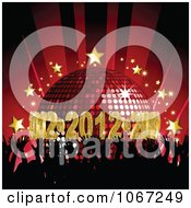 Clipart 2012 Disco Dance Party With Silhouetted Hands Royalty Free Vector Illustration