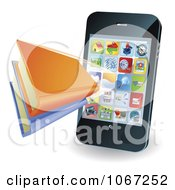 3d Smartphone With A Book Application