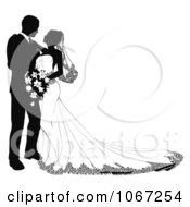 Clipart Bride And Groom Leaning In To Kiss Royalty Free Vector Illustration by AtStockIllustration #COLLC1067254-0021